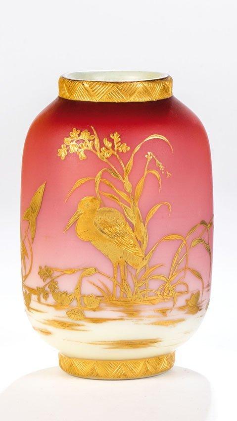 Vase mit Reiher