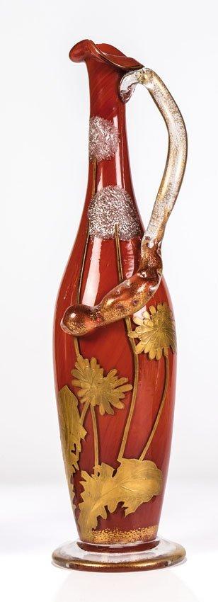 Vase mit Schlangenhenkel