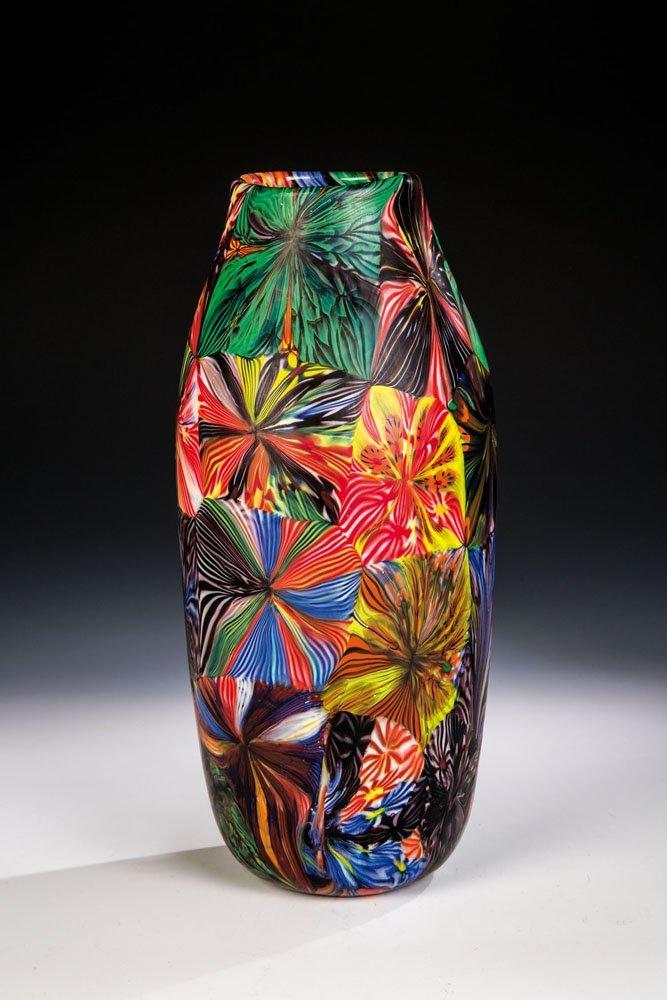 Vase ''Stellato a canne di Murrina''