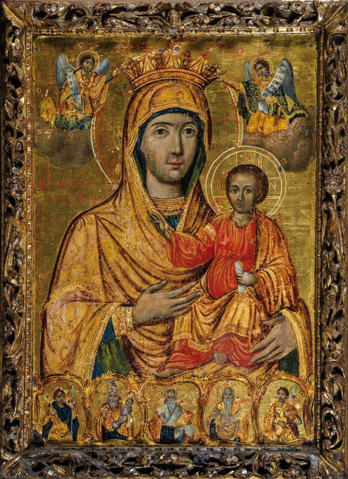 Große Ikone mit der Gottesmutter Hodegetria