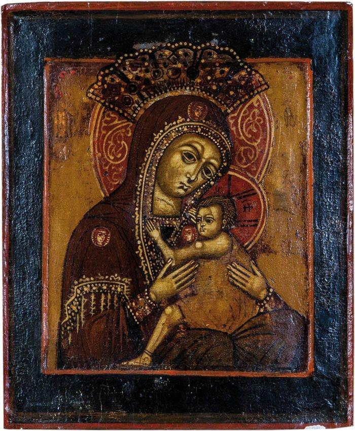 Seltene Ikone mit der Gottesmutter Ovsepethaja (die