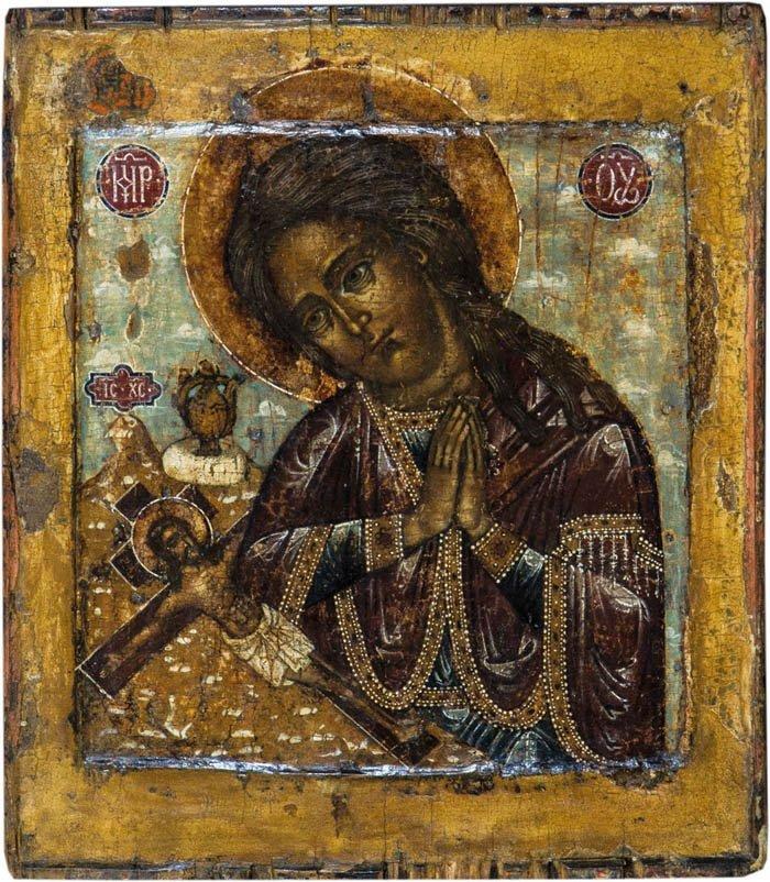 Seltene Form der Gottesmutter Achtyrskaja (von