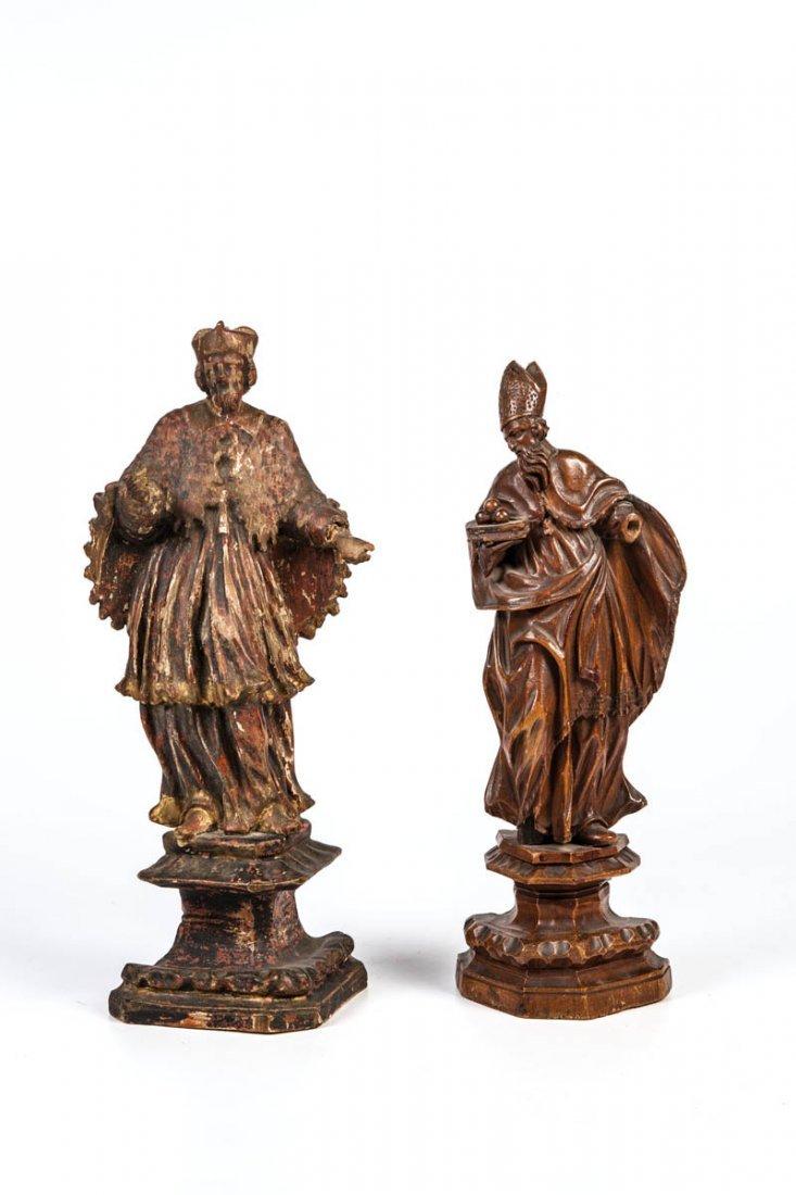 Die Heiligen Nikolaus und Nepomuk