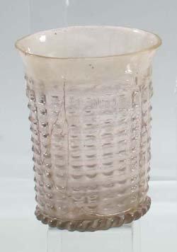4: Quadermusterbecher - glass beaker w. squaredesign