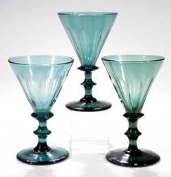 14: Satz von drei Kelchgläsern - three glass goblets