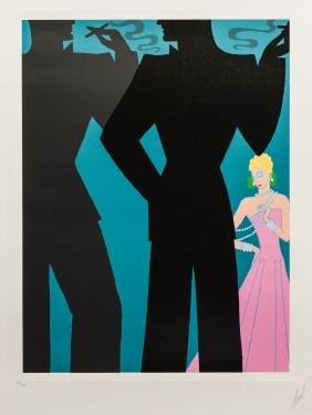 """Erte Serigraph, """"The Cocktail Party"""""""