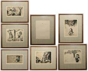 Charles Bragg 7 Creation Day Etchings