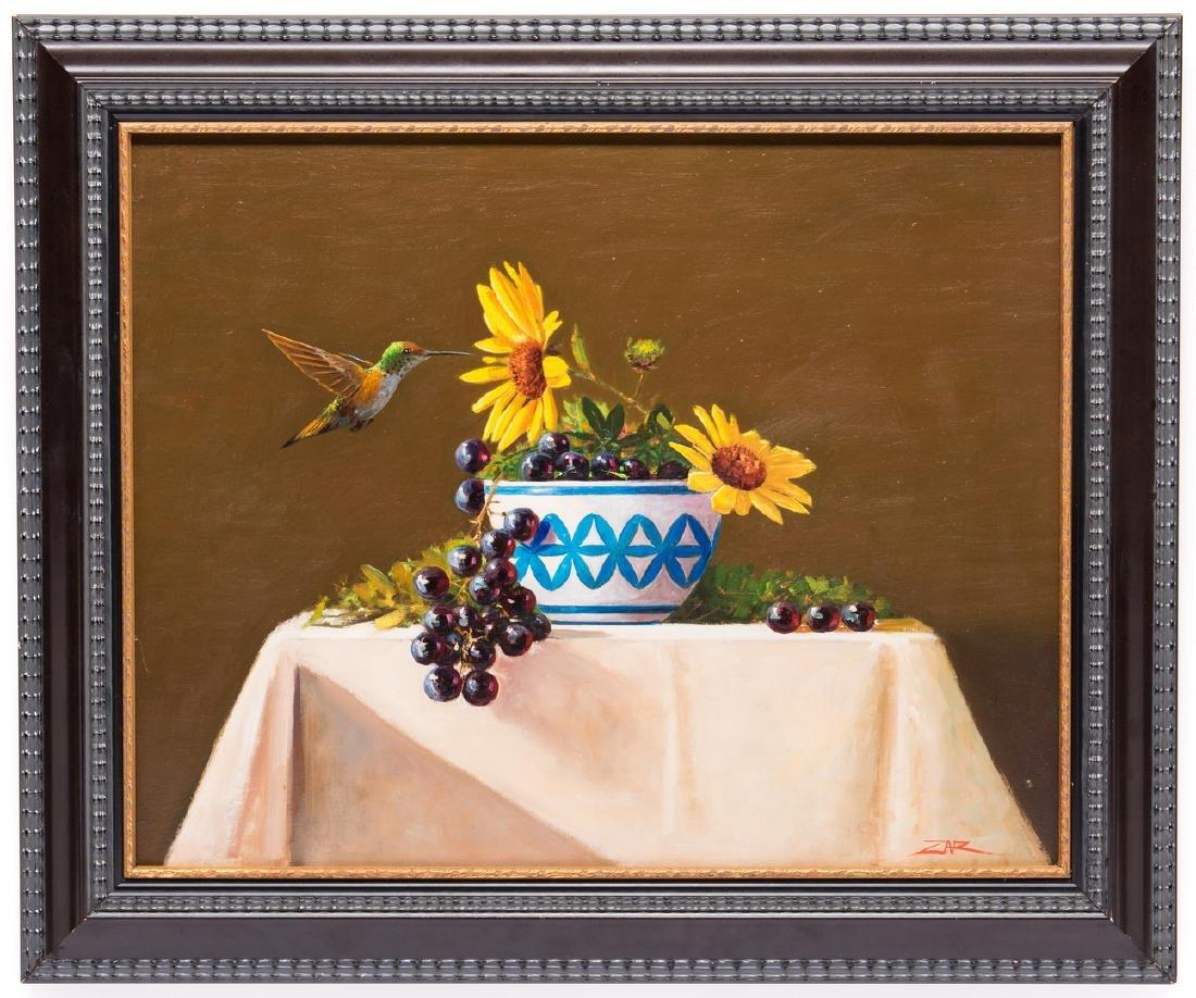 James Zar, Still Life with Hummingbird