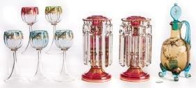 Art Glass, 8 pcs, incl. Moser