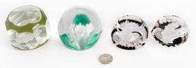 4 Paperweights, Incl. Baccarat