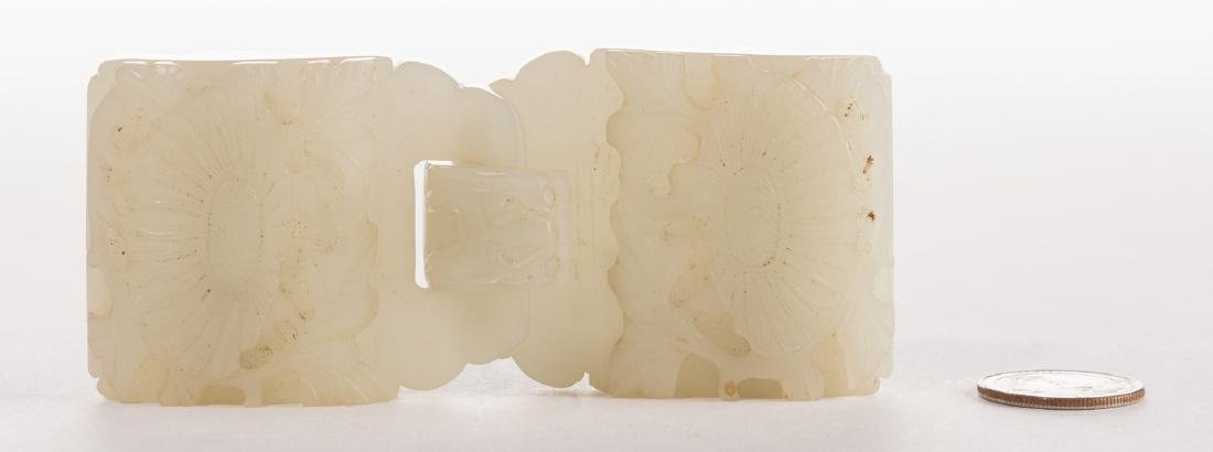 Chinese Celadon Jade Double Belt Buckle - 10