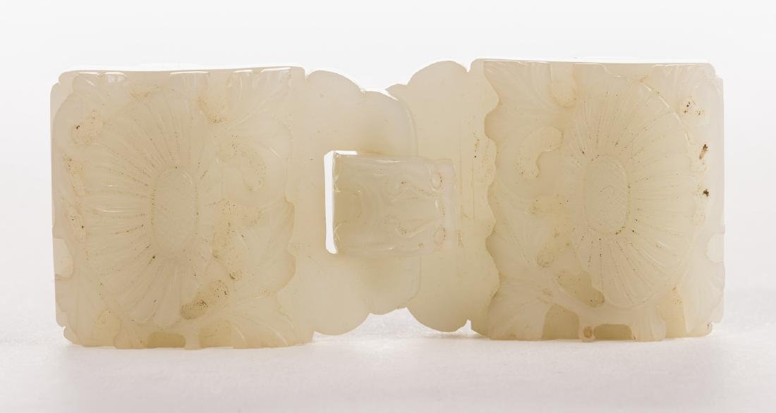 Chinese Celadon Jade Double Belt Buckle - 9