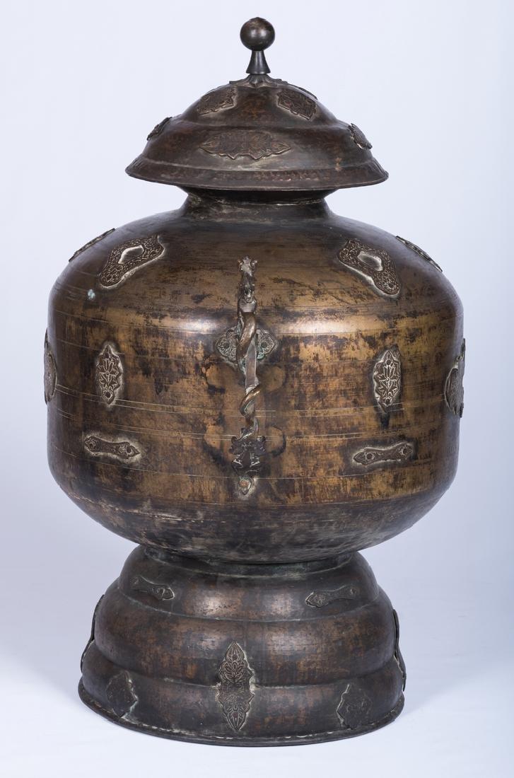 Large Asian Bronze Lidded Storage Vessel, Prob. Chinese - 4