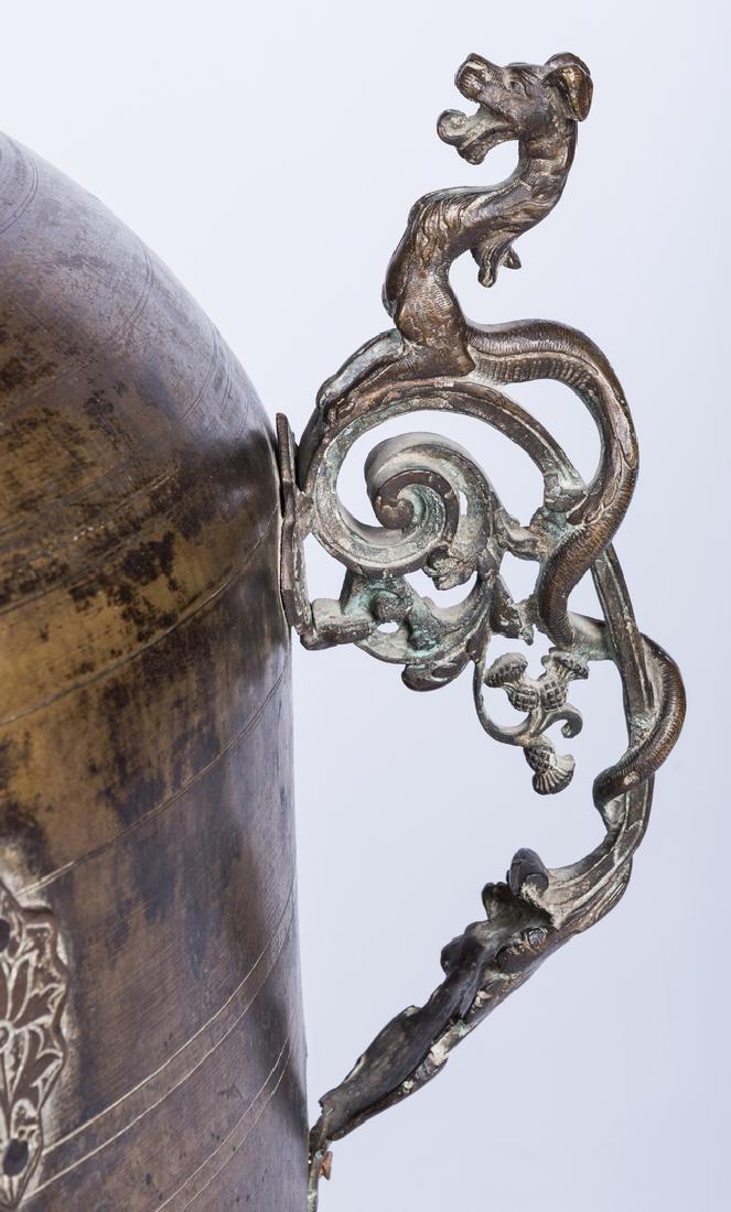 Large Asian Bronze Lidded Storage Vessel, Prob. Chinese - 7