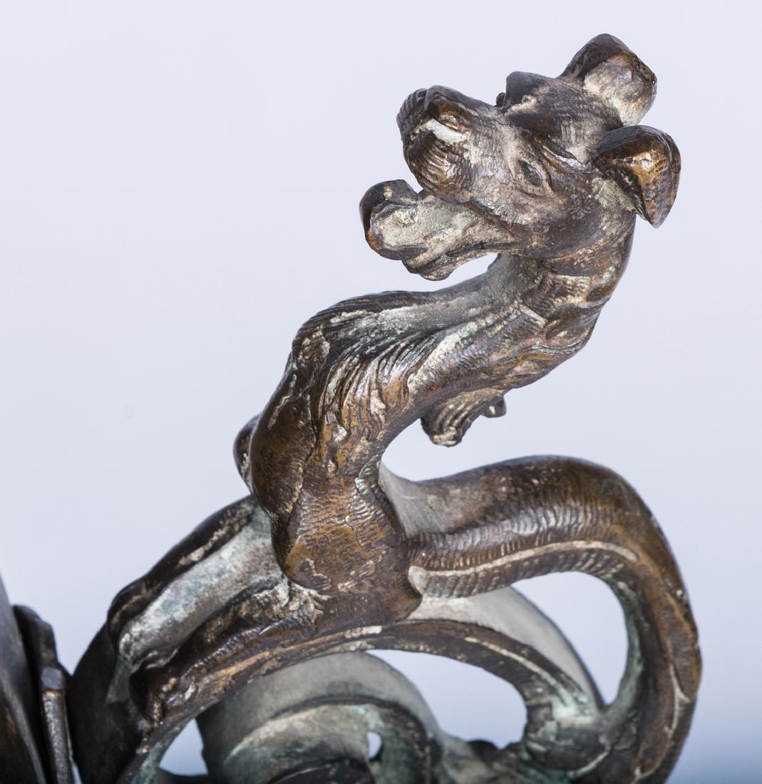 Large Asian Bronze Lidded Storage Vessel, Prob. Chinese - 8