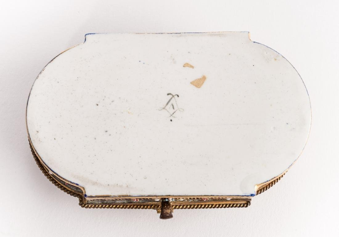 19th c. French Enamels: Box & Tray - 6