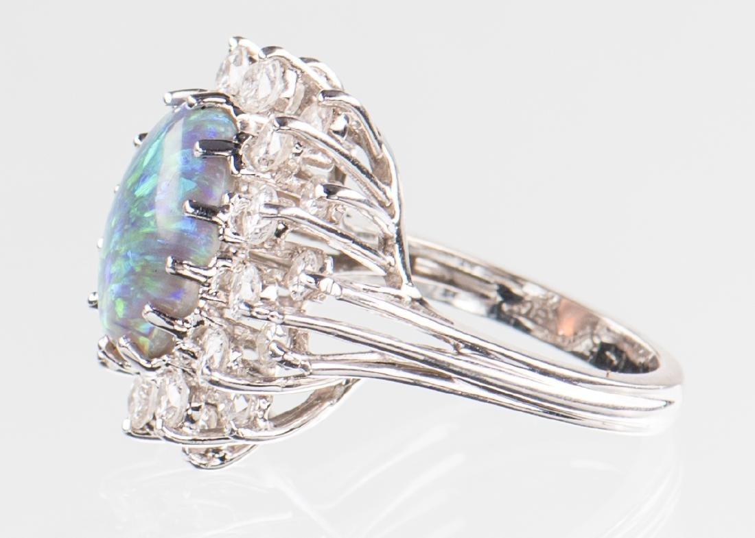 10 ct Lightning Ridge Opal Diamond Ring - 3