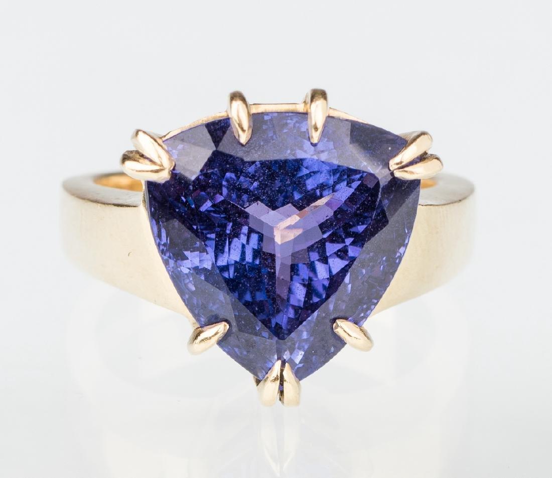 18K Tanzanite Fashion Ring - 2
