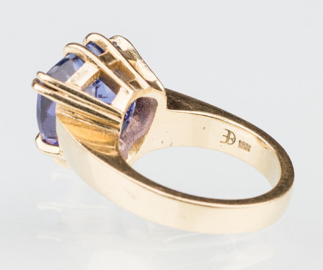 18K Tanzanite Fashion Ring - 5
