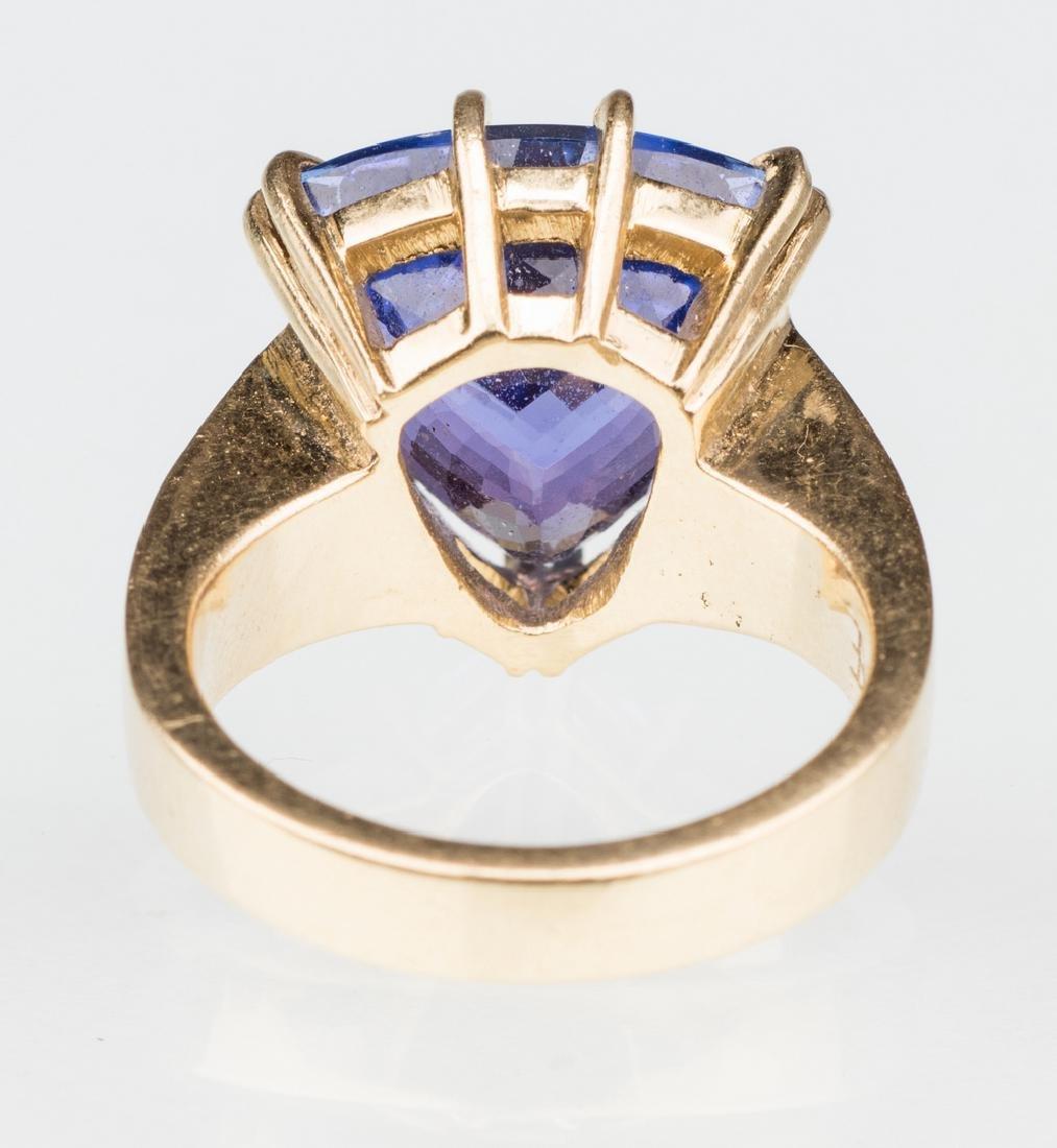 18K Tanzanite Fashion Ring - 6