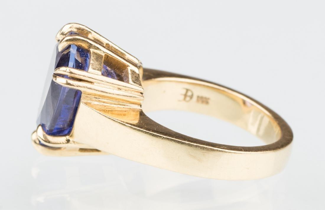 18K Tanzanite Fashion Ring - 7