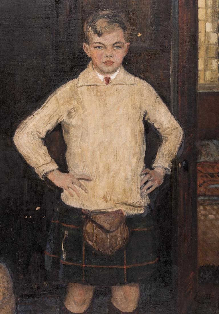 John Rankin Barclay Portrait of 2 Boys in Kilts - 4