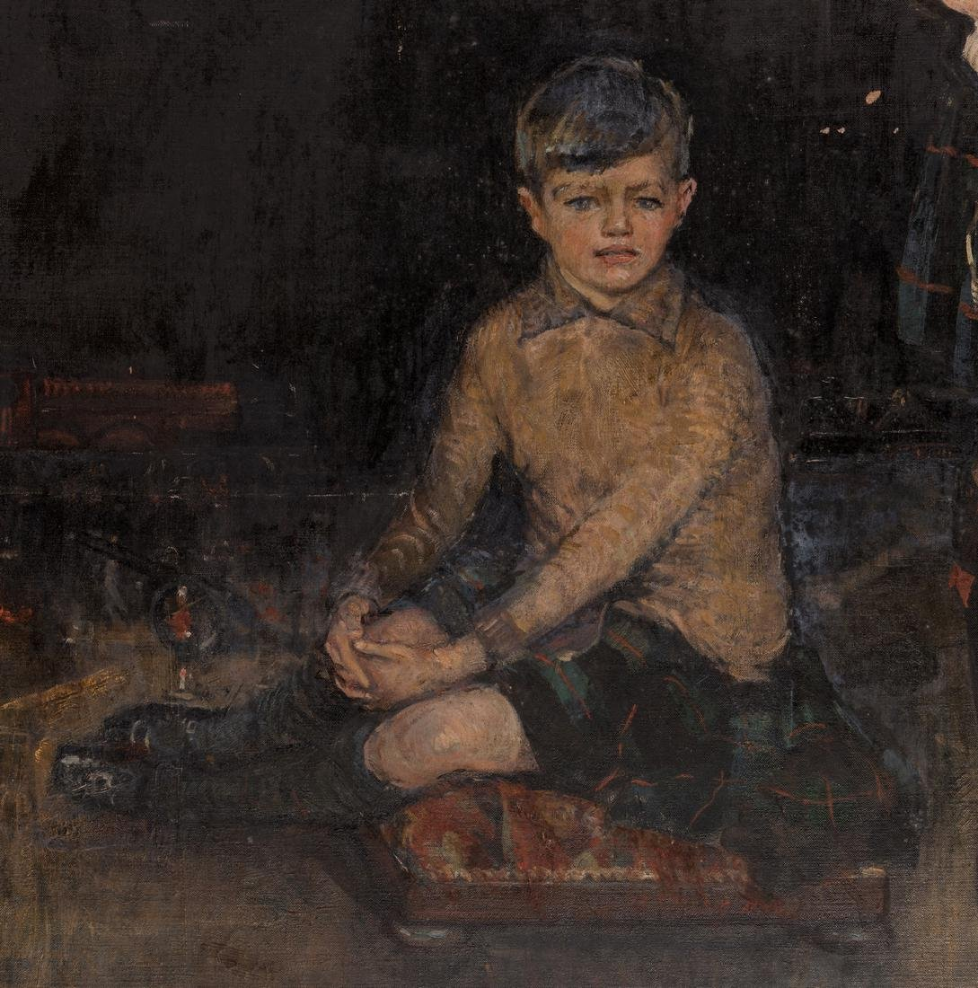 John Rankin Barclay Portrait of 2 Boys in Kilts - 6