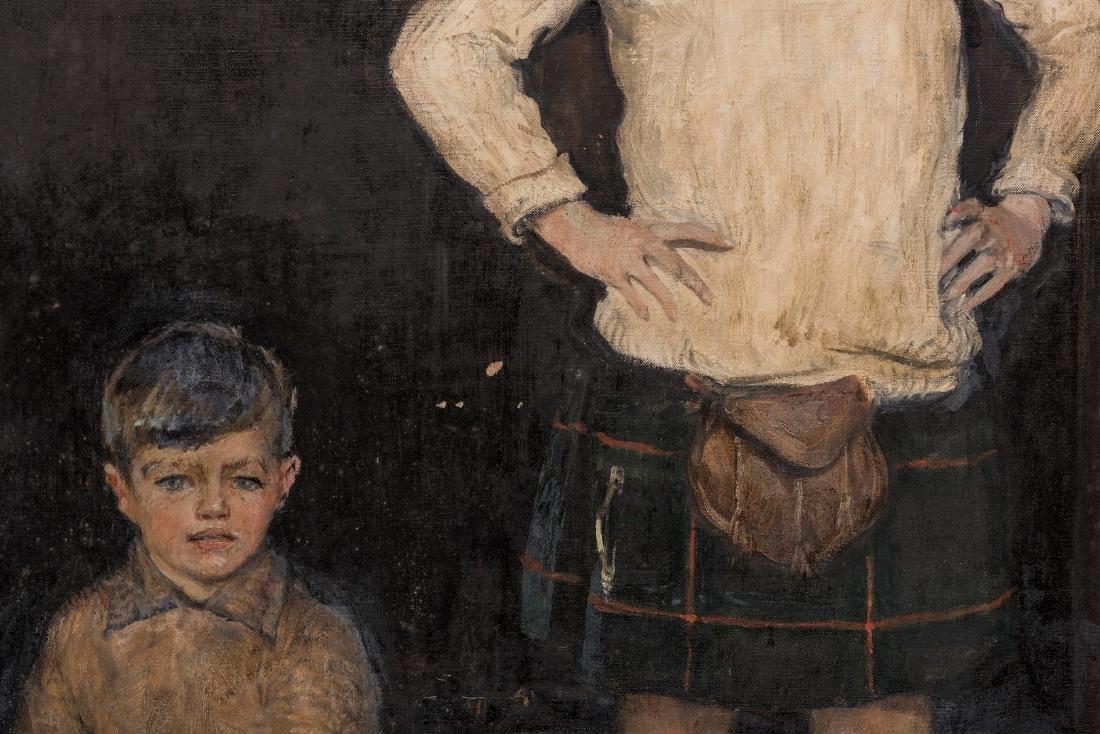 John Rankin Barclay Portrait of 2 Boys in Kilts - 8