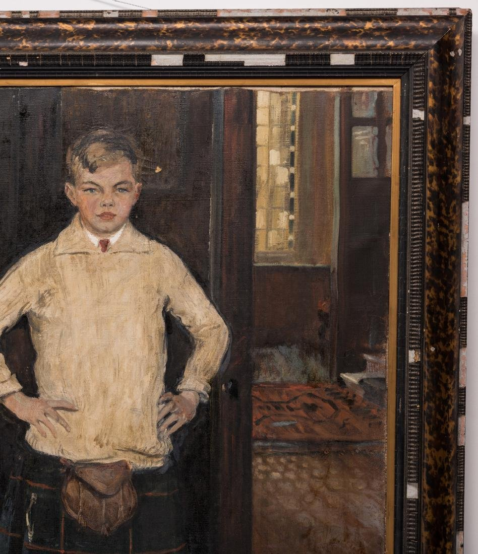 John Rankin Barclay Portrait of 2 Boys in Kilts - 9