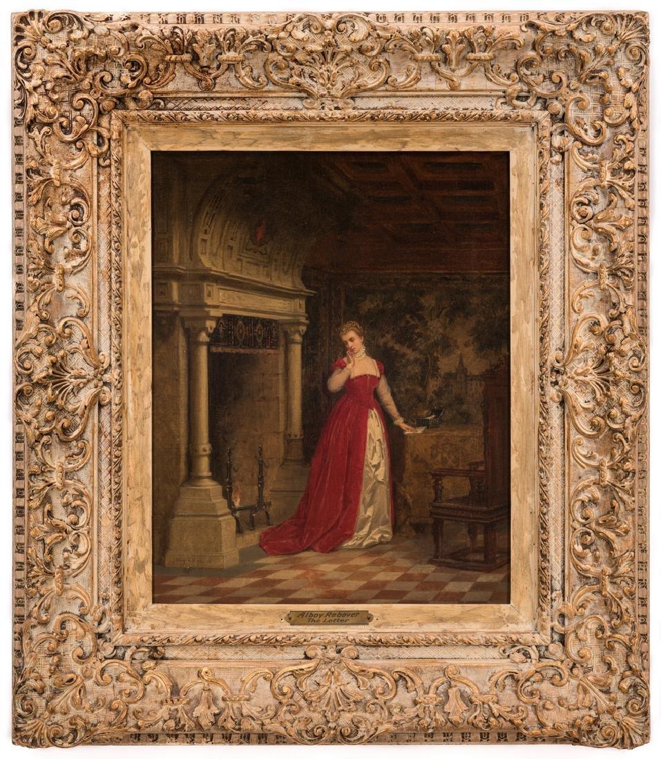 Alboy- Rebovet Oil on Canvas, The Letter