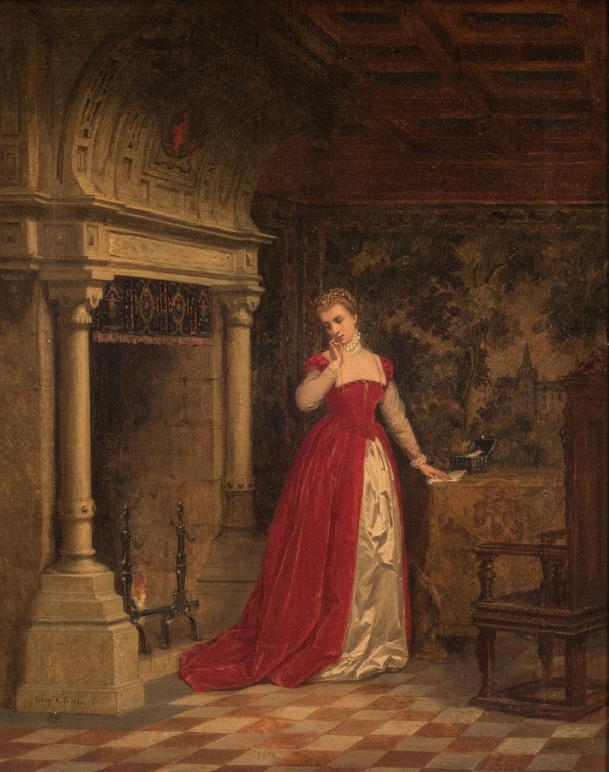 Alboy- Rebovet Oil on Canvas, The Letter - 2