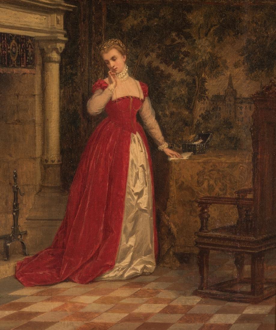 Alboy- Rebovet Oil on Canvas, The Letter - 3
