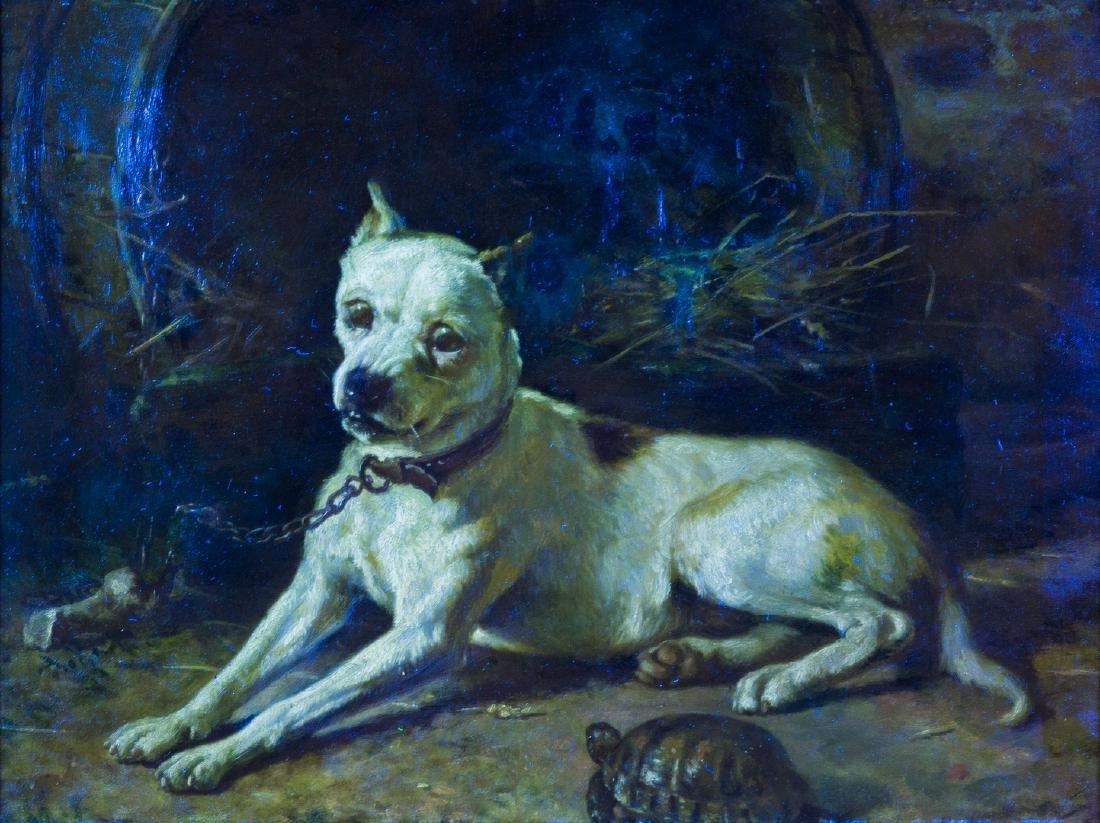 Edward Physick Oil on Canvas Dog Portrait - 10