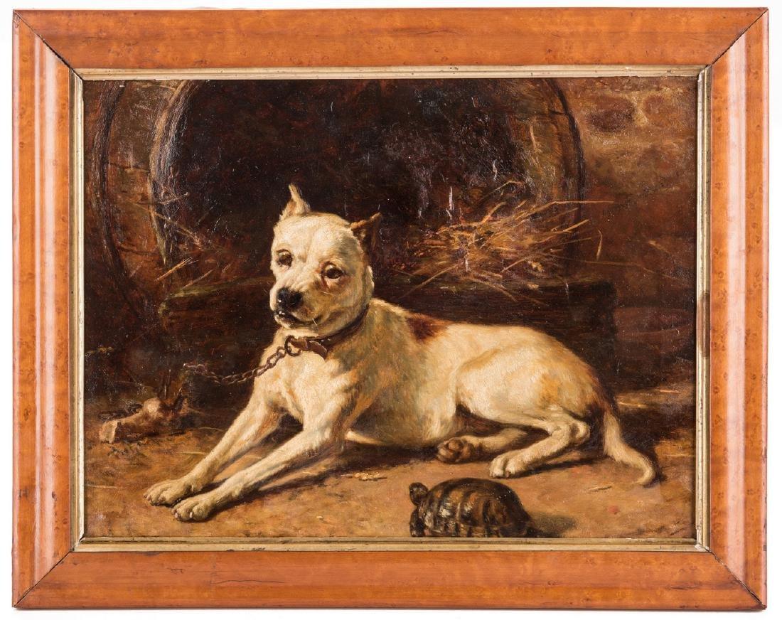 Edward Physick Oil on Canvas Dog Portrait - 2