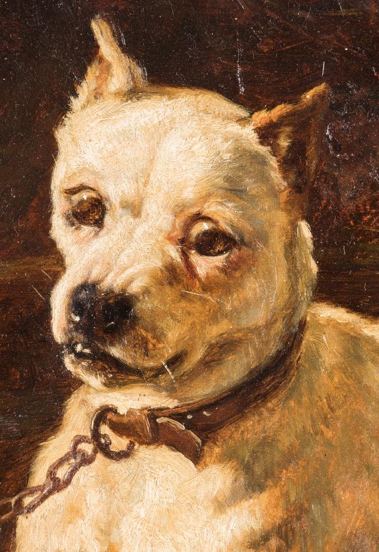 Edward Physick Oil on Canvas Dog Portrait - 3