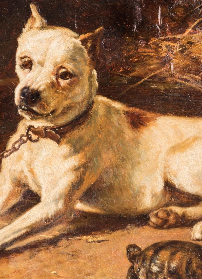 Edward Physick Oil on Canvas Dog Portrait - 4