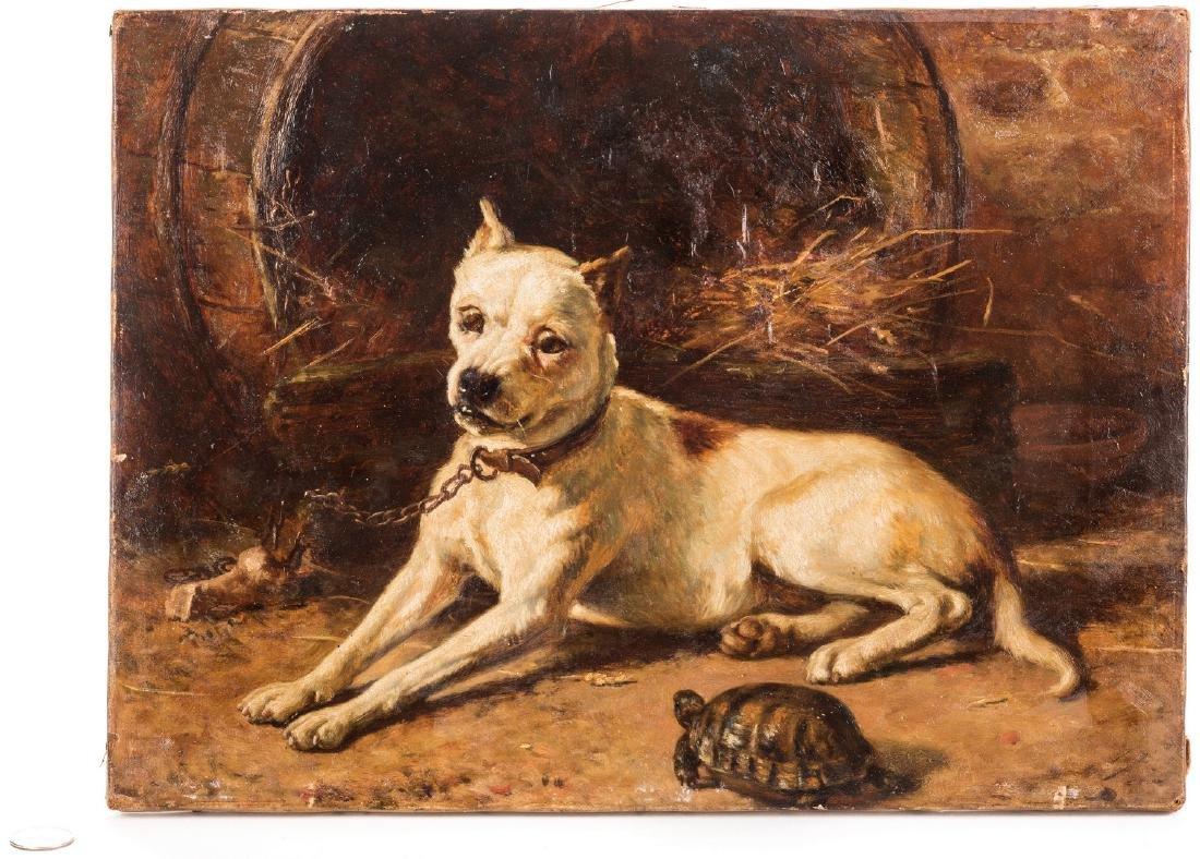 Edward Physick Oil on Canvas Dog Portrait - 8