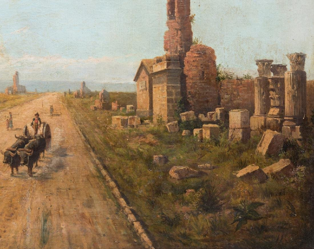 Signed Orientalist Landscape, Road to Damascus - 6