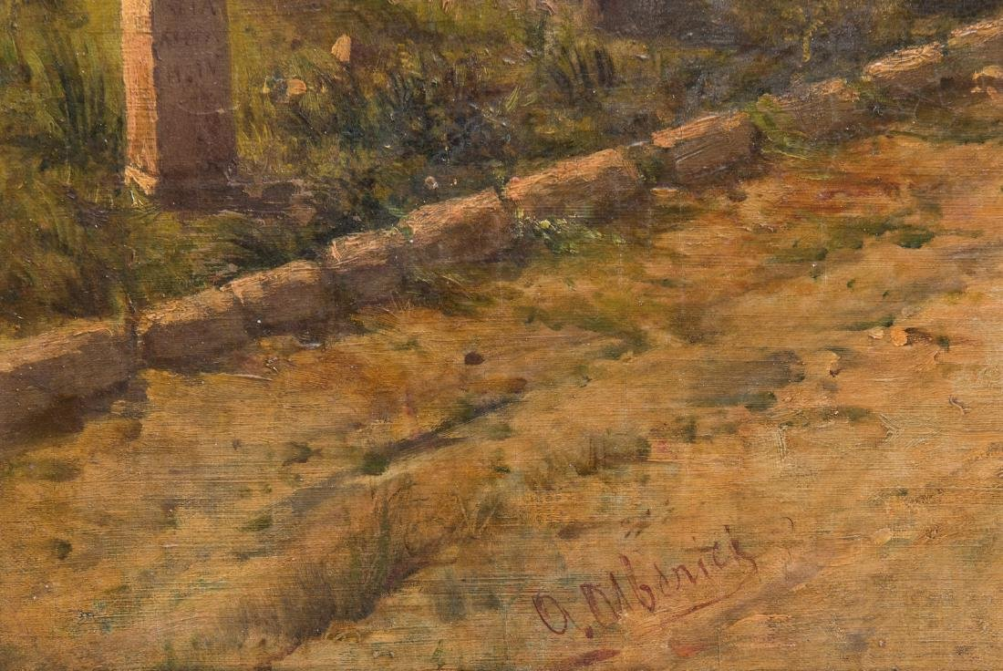 Signed Orientalist Landscape, Road to Damascus - 9