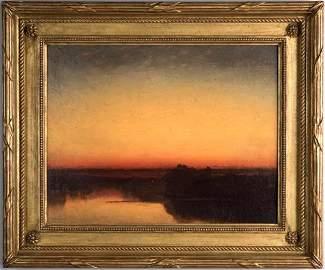 John Frederick Kensett Oil, Contentment Island