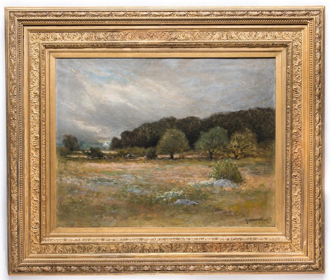 George W. Whitaker, O/C, Barbizon School Landscape