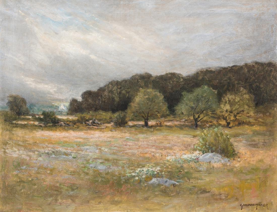 George W. Whitaker, O/C, Barbizon School Landscape - 2