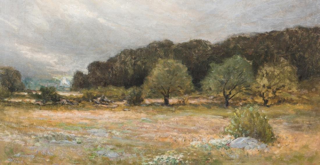 George W. Whitaker, O/C, Barbizon School Landscape - 3