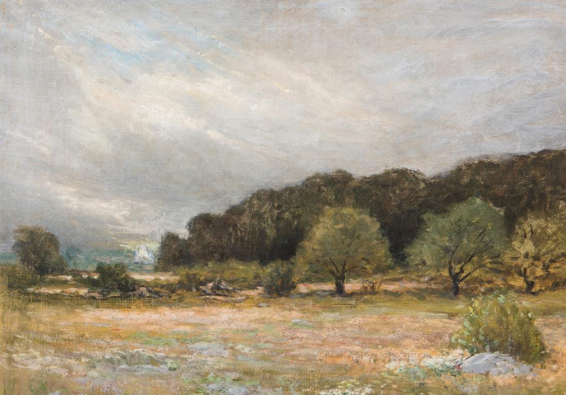 George W. Whitaker, O/C, Barbizon School Landscape - 4