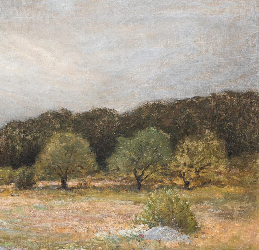 George W. Whitaker, O/C, Barbizon School Landscape - 5