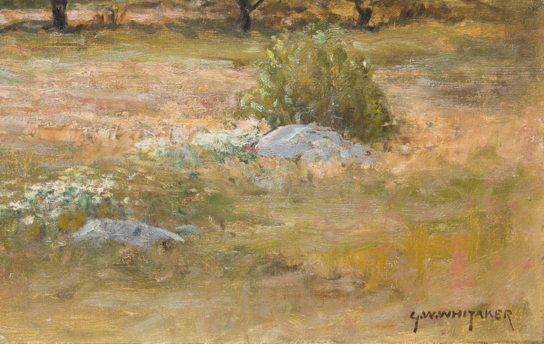 George W. Whitaker, O/C, Barbizon School Landscape - 6