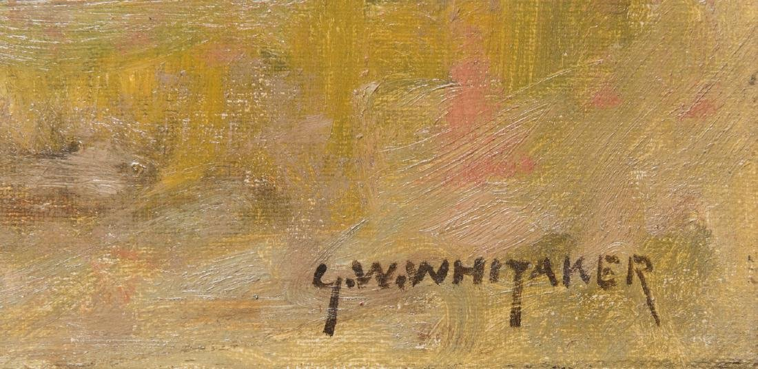 George W. Whitaker, O/C, Barbizon School Landscape - 8