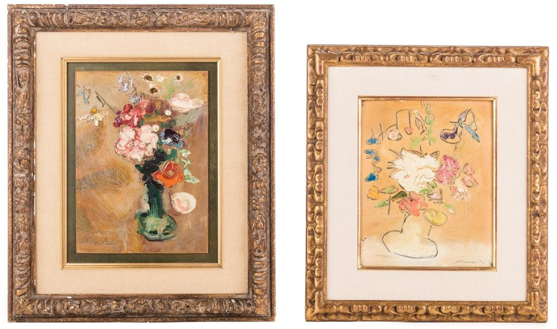 2 Sterling Strauser Floral Still Life Paintings
