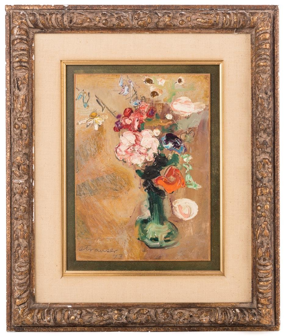 2 Sterling Strauser Floral Still Life Paintings - 2