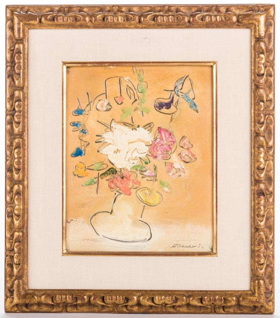 2 Sterling Strauser Floral Still Life Paintings - 7